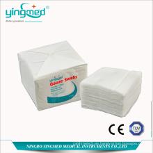 Hisopo de gasa de algodón 100% no estéril médico