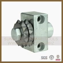 Différents outils diamantés pour le polissage abrasif