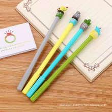 Cartoon Cute Cactus Potted Gel Pen Black Ink Signature Pen Fashion Stationery