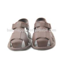 Sandalias de cuero baratas de los niños del zapato de bebé de la PU de la PU