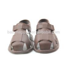 Tan PU leather baby shoe toddler cheap children sandals