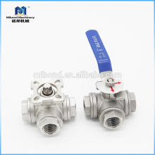 Easy operation Manual 3 Way Screwed Ends SS Control Ball Valve for Steam