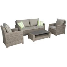 Jardín de mimbre al aire libre muebles Patio sofá salón rota