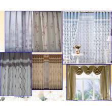 Fenster-Stickerei-Vorhang mit weichem und bequemem Handlings-Gefühl