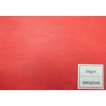 Tecido de SMS (vermelho 55GSM)