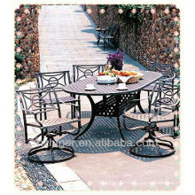 factory custom made aluminum casting outdoor leisure garden chair and table furniture