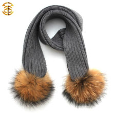Kid Fashionable Wholesale High Quality Lovely Warm Kids Knitting Scarf para o inverno
