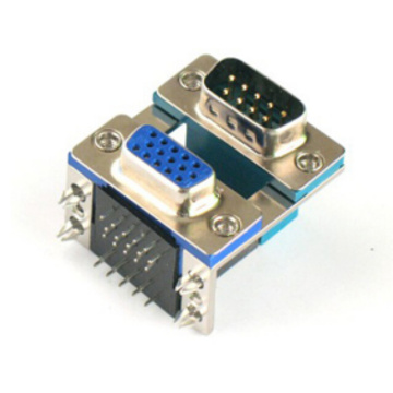 D-SUB PCB Dual Port haaks 5.08mm 9P TO 15P (Stamped Pin)