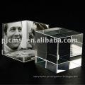 Moldura de cristal cubo para presente e decoração de casa