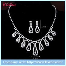 Ensemble de bijoux en bijoux de mariage élégant Ensembles de bijoux en diamants blancs pour mariage