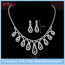 Elegant wedding jewelry type jewellery set white diamonds jewelry sets for bridal