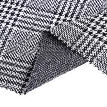 Polyester Spandex Plaid Jacquard Knitting Garment Fabrics