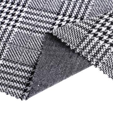 Жаккардовые ткани для одежды из полиэстера и спандекса в клетку для вязания