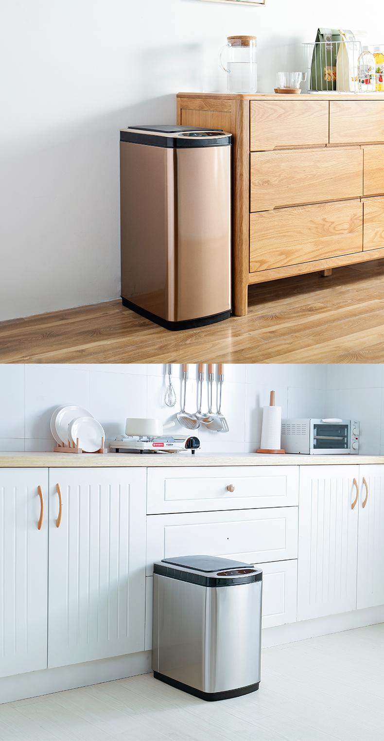 Sensor garbage bin for kitchen