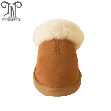 best selling women fuzzy indoor sheepskin ankle slippers