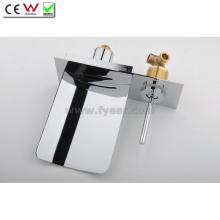 Robinet de salle de bain mural à bec cascade en acier inoxydable (QH0500WS)