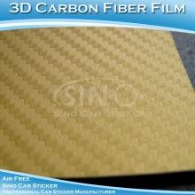 Yüksek polimer 3D Carbon Fiber araba kaydırma vinil Film