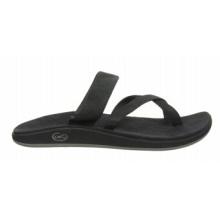 Sandales à enfiler en cuir pleine fleur décontracté et confortable