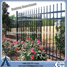 Baochuan fabulous hot dipped galvanized steel fence/wrought iron/aluminum fence