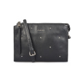 Trendy Elegant Rivet Leather Pouch Wallet Clutch Handtasche