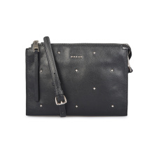 Trendy Elegant Rivet Leather Pouch Wallet Clutch Handbag