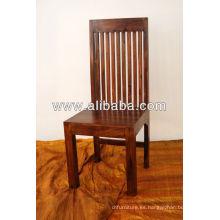 Silla de madera sheesham