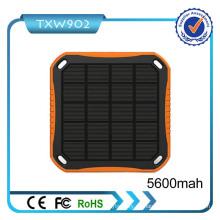 2016 neue Modell-hohe Kapazität bewegliche Solar-Energien-Bank 5600mAh Solaraufladeeinheit