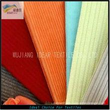 13W 99.2%Cotton 0.8%Spandex Weft Elastic Stripe Corduroy Fabric 315GSM
