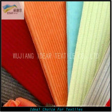 13W 99.2%Cotton 0.8%Spandex trama elástica listra veludo tecido 315GSM