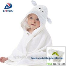 Custom private label 90*90cm 100% bamboo elephant hooded towel