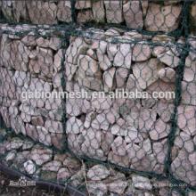 Bones de engranzamento de arame de cesta de rocha de boa qualidade / malha de gabião pesada alibaba china