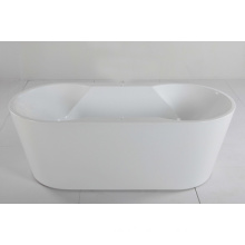 Freestanding Soaking Tub in White Acrylic