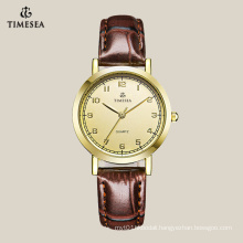 Top Quality Women′s Quartz Watch with Gold Dial 71045