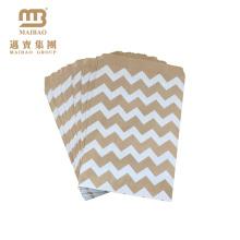 Sacos de papel pequenos feitos sob encomenda seguros do presente de Brown do casamento / favor de festa de aniversário para doces / biscoito