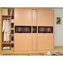 Diseños populares de la puerta del armario de madera del dormitorio del panel