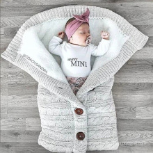 super soft polyester Baby Boy Girl Cute Cotton Plush Receiving security  Blanket Sleeping Wrap Swaddle