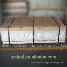 [Proteger la película en la superficie] 1100 H24 hoja de aluminio de buena superficie utilizado para la pared exterior del edificio