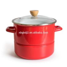 revestimento de esmalte pote de vapor de alta qualidade e botão de madeira pote de esmalte estoque