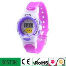 Fashion LED Digital Children Watch with Plastic
