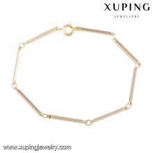 74547 Xuping jóias finas novo design pulseira de ouro com boa qualidade