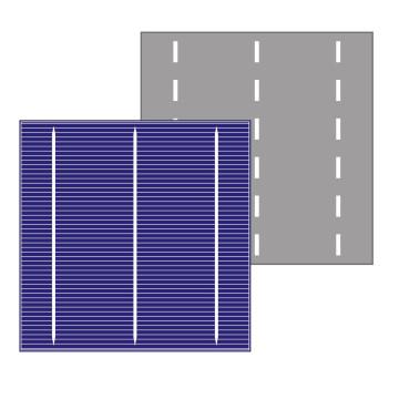 Cellule solaire polycristalline