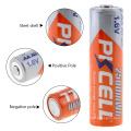 2018 PKCELL 1.6 v 2500 mwh bateria recarregável ni-zn alta drenar bateria