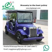 Las propiedades inmobiliarias utilizaron el coche clásico eléctrico de lujo de 12 asientos, coche del vintage para recoger