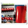 Revestimento em pó de poliéster metálico com sementes vermelhas