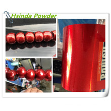 Red Spark Bonded Metallic Polyester Powder Coating