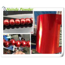 Revestimiento de polvo de poliéster metálico de aleación roja