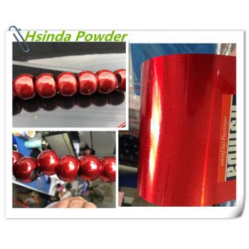 Красное покрытие с искровым покрытием из металлического полиэфирного порошка