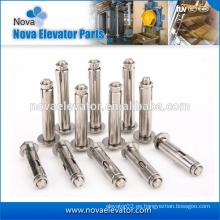 Fabricante de acero galvanizado de acero cuña anclaje / tornillo de expansión