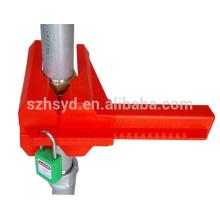 Seguridad ideal LOTO práctico cierre de válvula de bola