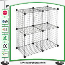 Cubo de fio de empilhamento de quatro cubos de armazenamento